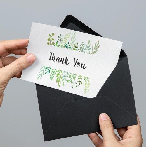 Medium Of Diy Thank You Cards