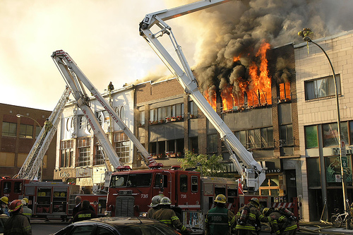 Fire on St. Denis