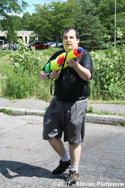 Me at Montreal's Largest Water Fight
