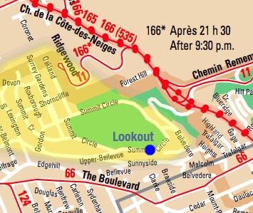 Westmount Lookout public transit