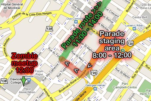 Santa Parade and zombies