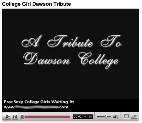 Dawson YouTube spam
