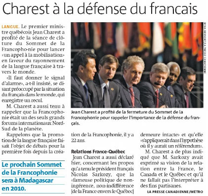 Journal Métro Montréal, 20 octobre, page 3