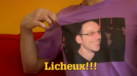 Dominic Arpin on a T-shirt (Bombe.tv)