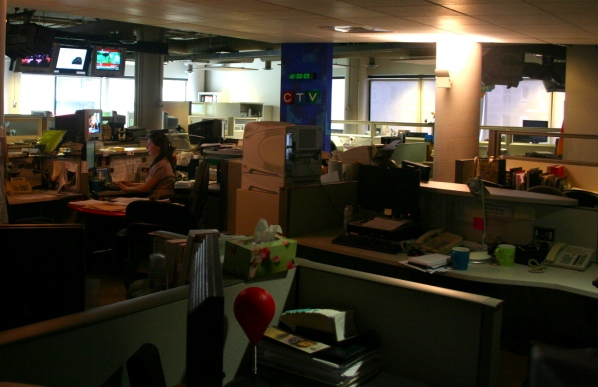 Next time, I'll get a better shot of the newsroom.