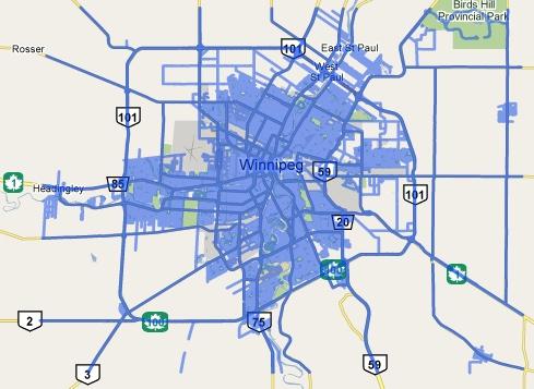 Google Street View in Winnipeg