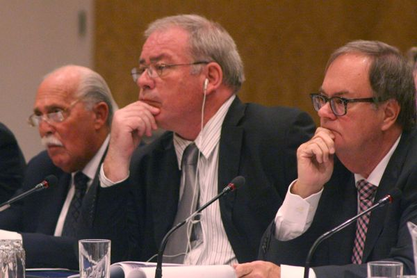 Jim Connell (centre) and Steve Kowch (right)