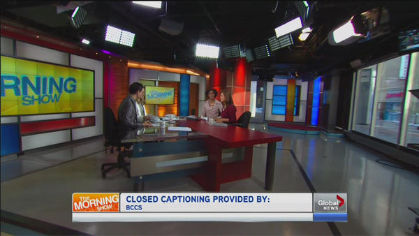 The set of Global Toronto's morning show