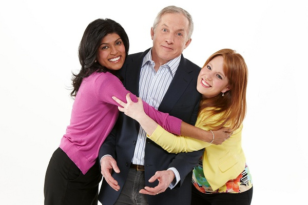 Global Montreal's morning show cast: Camille Ross (left), Richard Dagenais (centre) and Jessica Laventure.