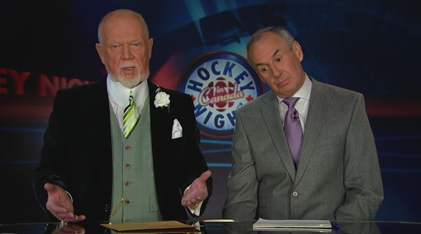 Don Cherry and Ron MacLean 9