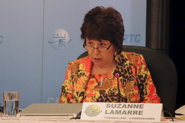 CRTC Quebec regional commissioner Suzanne Lamarre grills Bell on its plans for Montreal radio on Monday.