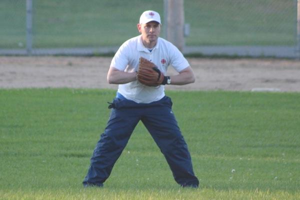 Tim Duboyce in centre field