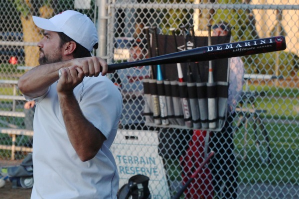 Douglas Gelevan swinging for the fences.