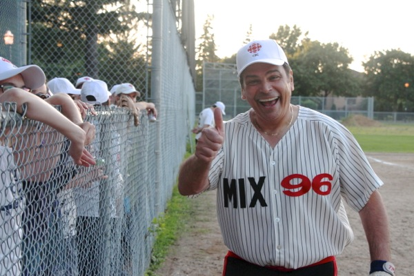 Frank Cavallaro proudly representing Mix 96.