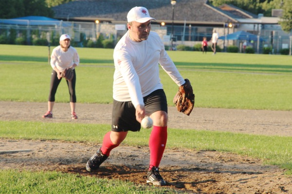 Jason Boychuk pitching the kind of softball that CBC reporters have been lobbing at politicians on a daily basis. (OH SNAP!)