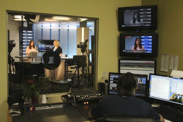 Control room and studio at Avis de recherche