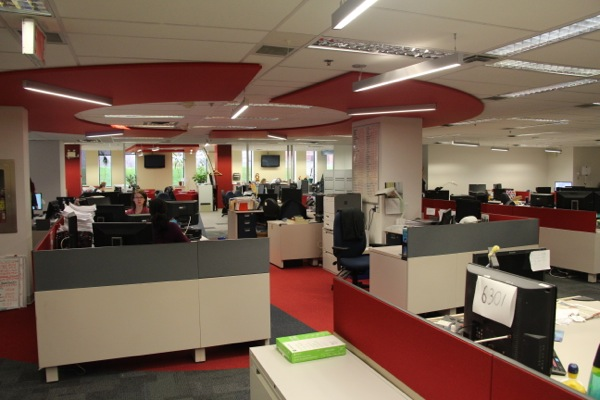 CBC Montreal's office space, renovated just last fall to bring all English staff together, is centred around a hub to facilitate integration.