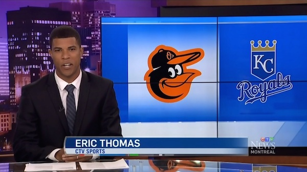 Eric Thomas's first show on-air at CTV Montreal on Friday, Oct. 10. (via CTV)