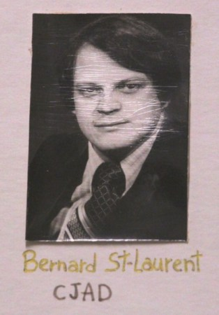 Bernard St-Laurent in a class photo at the press gallery in Quebec City