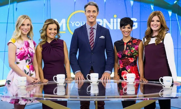 Your Morning cast, from left: Kelsey McEwen, Melissa Grelo, Ben Mulroney, Anne-Marie Mediwake, Lindsey Deluce. (photo: Bell Media)