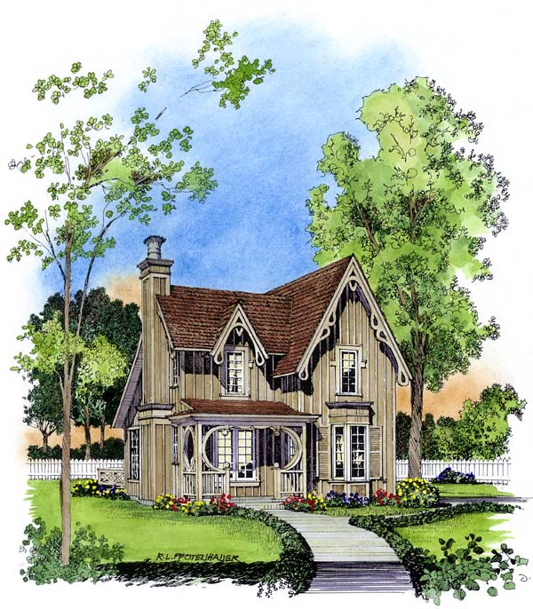 Fancy victorian cottage plans family home plans blog for Bungalow floor plans historic