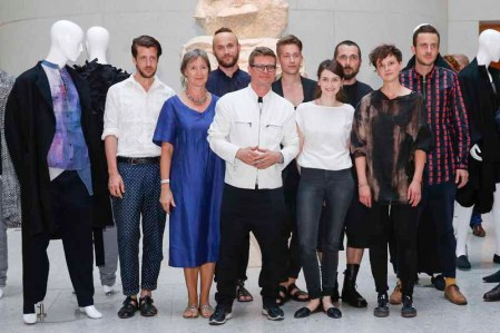 BERLIN, GERMANY - JULY 06: Winners of the European Fashion Award FASH 2015 by SDBI with a part of the jury at Neues Museum Berlin on July 6, 2015 in Berlin, Germany. (Photo by Isa Foltin/Getty Images for FASH2015_SDBI.DE)