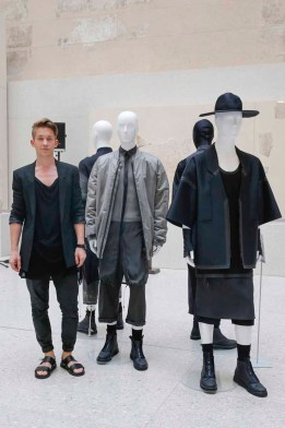 BERLIN, GERMANY - JULY 06: Lukas Fischer during the award ceremony European Fashion Award FASH 2015 by SDBI at Neues Museum Berlin on July 6, 2015 in Berlin, Germany. (Photo by Isa Foltin/Getty Images for FASH2015_SDBI.DE)