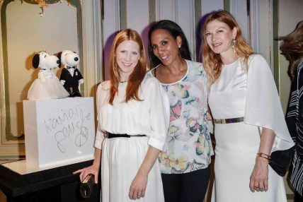BERLIN, GERMANY - JULY 08: Johanna Kühl, Barbara Becker and Alexandra Fischer-Roehler attend the Snoopy & Belle Vernissage at Mercedes-Benz Fashion Week Berlin Spring/Summer 2016 at Ermelerhaus on July 08, 2015 in Berlin, Germany. (Photo by Franziska Krug/Getty Images for SBIFBERLIN)