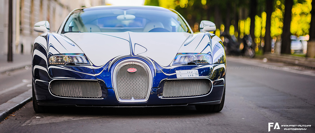 Bugatti Veyron Or Blanc GrandSport Paris Photo