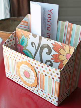 Cereal Box Organizer Photo Credit: Katydid and Kid