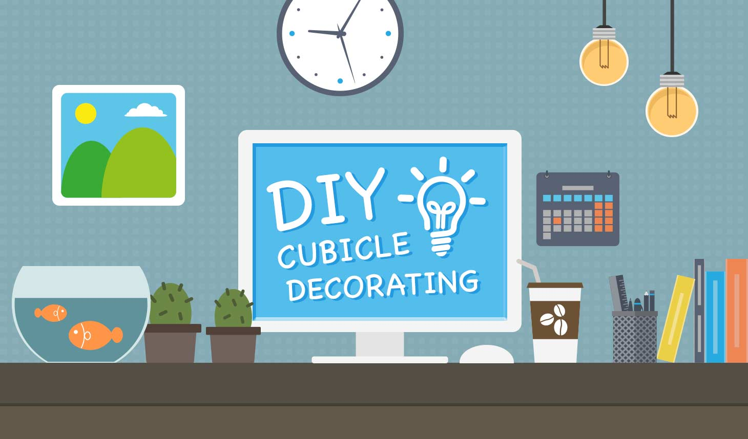 Diy decorate your cubicle the fastcubes blog life cubed do it yourself decorate your cubicle solutioingenieria Gallery