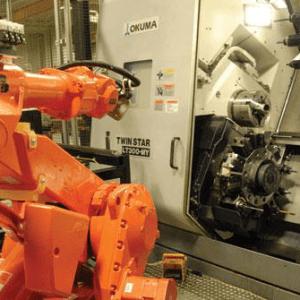 Chargement par robot sur Commande numerique