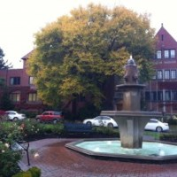 The Gardner Fountain at the University of Puget Sound