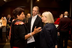 """Jeanette Nostra, Design Entrepreneur NYC """"executive in residence""""; Barry Kay, co-president, Herman Kay Co., Inc.; Robin Burns-McNeill, FIT Trustee & Chair, Batallure Beauty, LLC"""