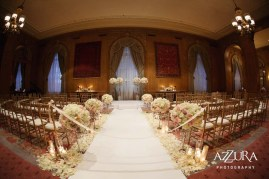 Ceremony setup at the Fairmont Olympic