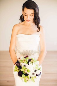 Flora Nova Design Seattle - Contemporary Black and White Seattle Art Museum Wedding. Black, White, and Green Bridal Bouquet