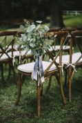 Flora Nova Design Seattle Wedding Ceremony Vineyard Chair Eucalyptus