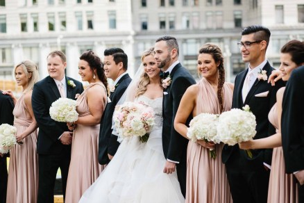 Flora Nova Design Seattle - Seattle downtown blush wedding party