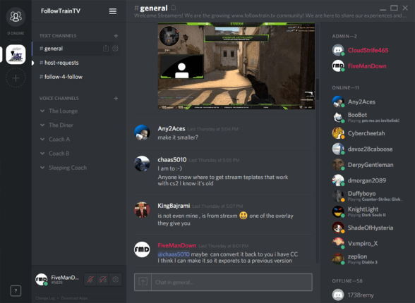 Twitch Streamers Community on Discord