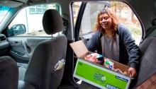 Woman Loading Food Into Car