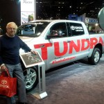 Bruce With Tundra at 2013 Chicago Auto Show