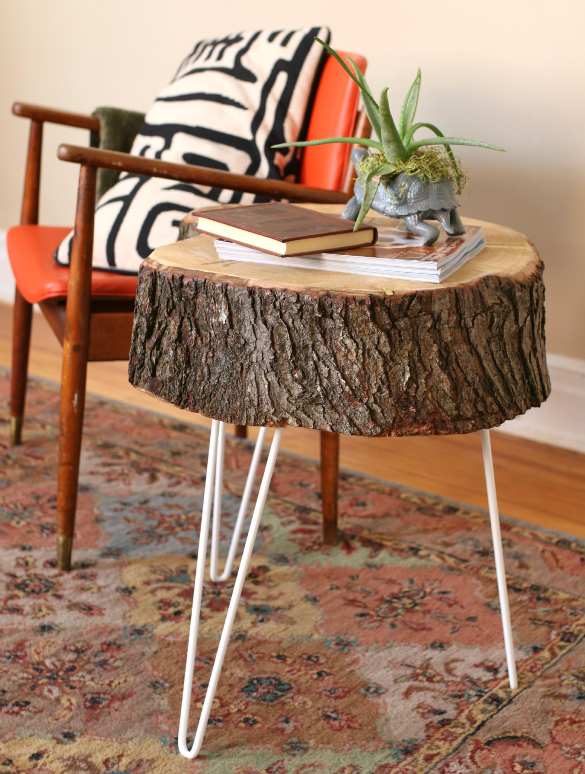 Diy end table ideas top 5 easy and cheap projects froy blog for Diy wood stump side table