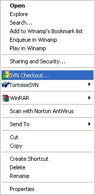 SVN Checkout menu
