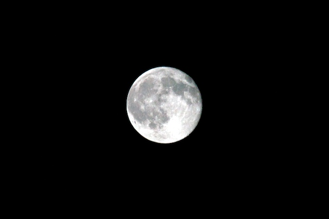 Detailed picture of the moon