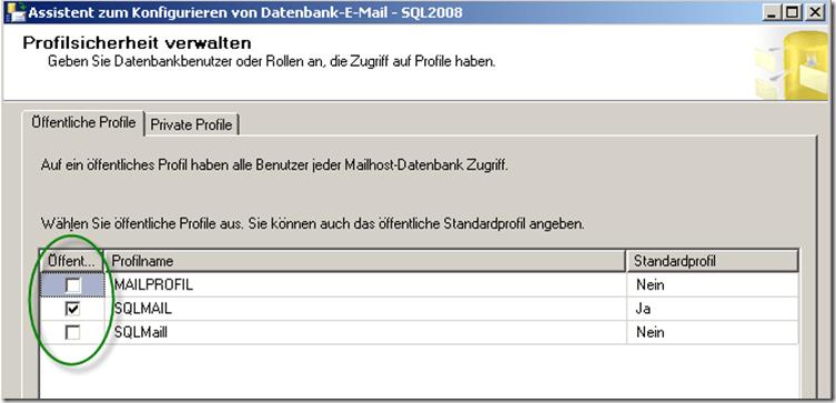 Database Mail: SQL Agent versendet keine Benachrichtigungen per Mail