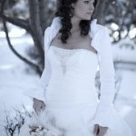 Winter wedding hairstyle