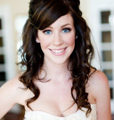 white wedding hairstyle