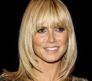 shoulder length blonde bangs
