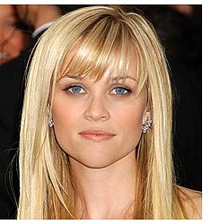 bangs blonde hair long