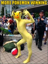 Don't try to catch this guy. This is not a real Pokémon.
